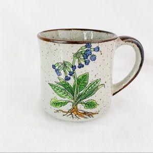 Vintage Floral Brown Speckled Tea/Coffee Mug